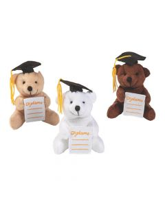 Graduation Stuffed Bears with Diploma Pocket