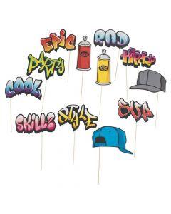Graffiti Photo Stick Props