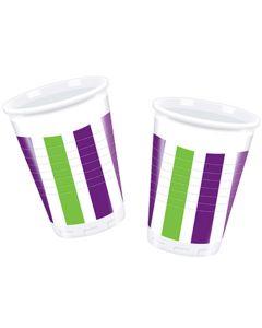 Grape Stripes Plastic Cup