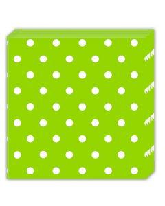 Green Dots Lunch Napkin