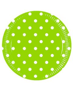 Green Dots Lunch Plate