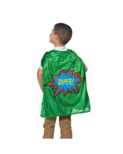 Green Graduation Superhero Cape