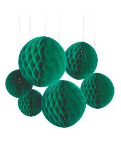 Green Hanging Honeycomb Decorations