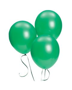 "Green Metallic 11"" Latex Balloons"