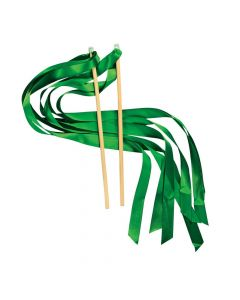 Green Ribbon Wands