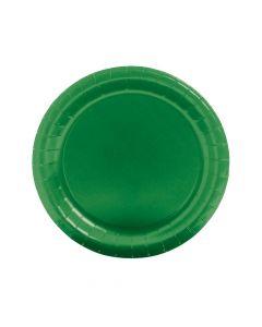 Green Round Paper Dinner Plates