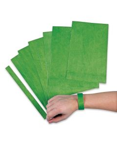 Green Self-Adhesive Wristbands
