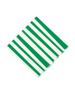 Green Striped Luncheon Napkins