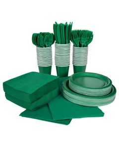 Green Tableware Kit for 48