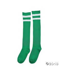 Green Team Spirit Knee-high Socks