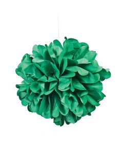 Green Tissue Pom-Pom Decorations
