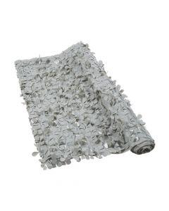 Grey Floral Sheeting Backdrop
