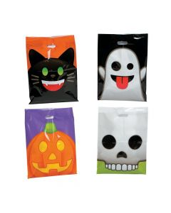 Halloween Emoji Face Trick-Or-Treat Bags