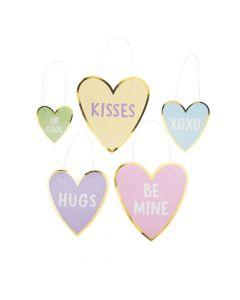 Hanging Valentine Conversation Heart Cutouts