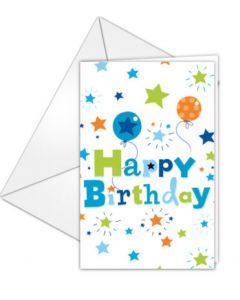 Happy Birthday Boy Invitations & Envelopes