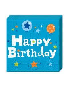 Happy Birthday Boy Two-ply Paper Napkins