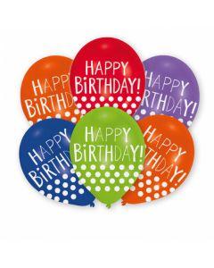 Happy Birthday Dots Latex Balloons