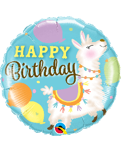 Happy Birthday Llama Foil Balloon