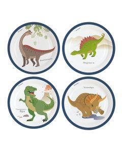 Happy Dinosaur Paper Plates