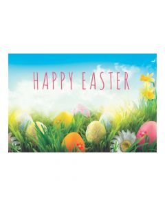 Happy Easter Plastic Backdrop