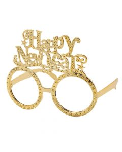 Happy New Year Gold Glasses