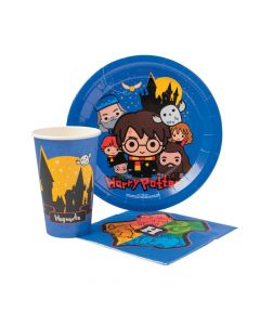 Harry Potter Chibi Cartoon Party Tableware Pack
