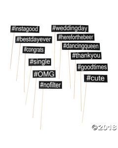 Hashtag Photo Stick Props