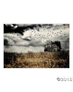 Haunted Farmhouse Backdrop