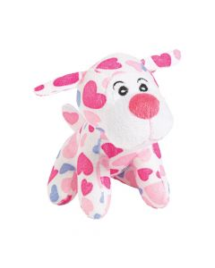 Heart Print Stuffed Dogs