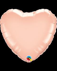 Heart Rose Gold Plain Foil Balloon 23CM