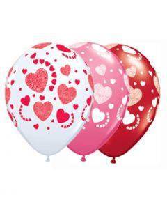Hearts Latex Balloons