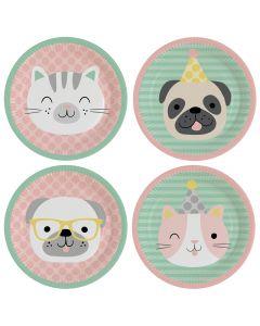 Hello Pets Paper Plates