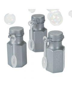 Hexagon Silver Bubble Bottles