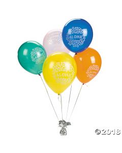 Hibiscus Aloha Latex Balloons