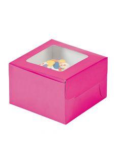 Hot Pink Cupcake Boxes
