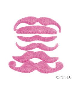 Hot Pink Mustache Assortment