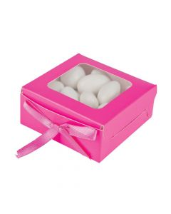 Hot Pink Shadow Favor Boxes