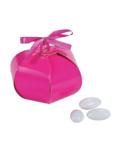 Hot Pink Wedding Sphere Favor Boxes