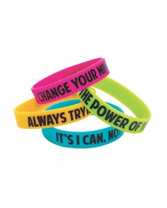 I Have a Growth Mindset Silicone Bracelets
