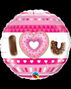 I Heart U Donuts Foil Balloon