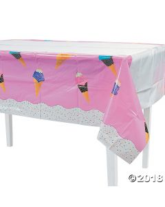 I Scream for Ice Cream Plastic Tablecloth