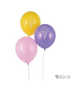 Ice Cream Latex Balloons