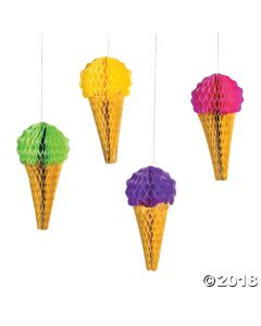Ice Cream Tissue Decorations