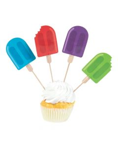 Ice Pop Party Cupcake Picks
