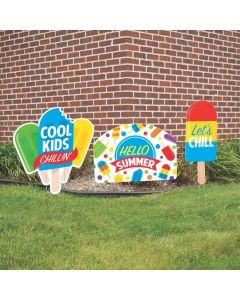 Ice Pop Party Yard Signs