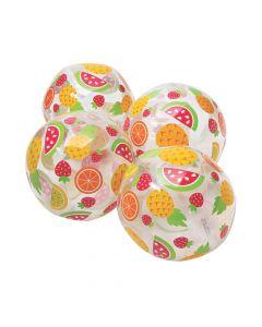 "Inflatable 11"" Fruit Print Medium Beach Balls"
