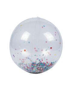 "Inflatable 11"" Large Confetti Beach Balls"