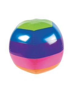 "Inflatable 30"" Rainbow Extra Large Beach Ball"