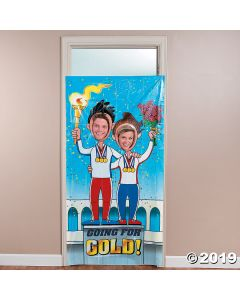 International Games Podium Photo Door Banner
