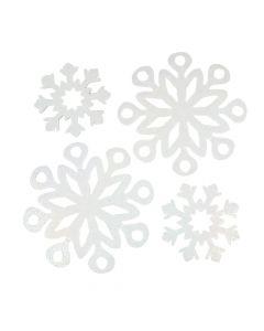 Iridescent Snowflake Cutouts